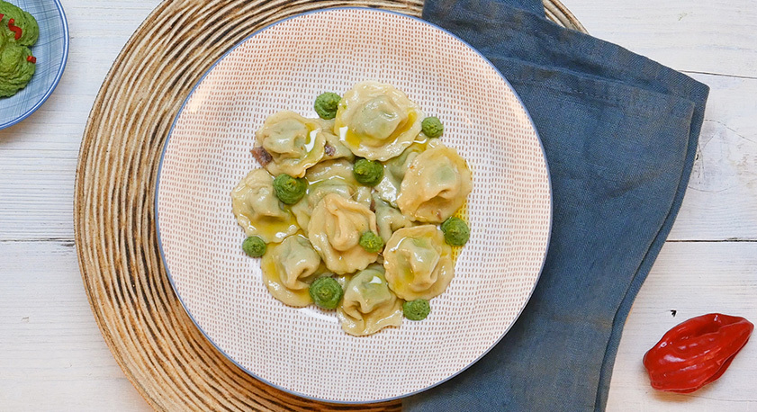 Ravioli Broccoli e Acciughe